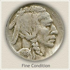 1919 Nickel Fine Condition