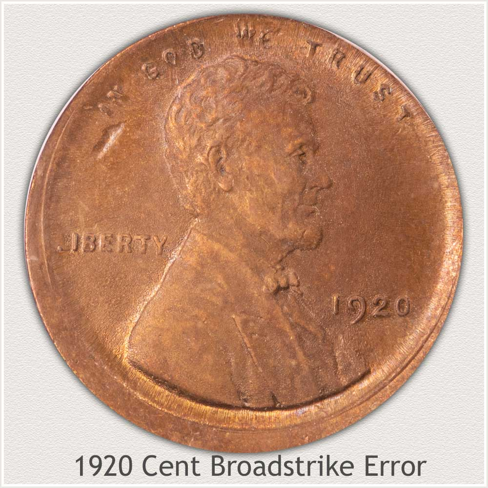 Broadstrike Error 1920 Lincoln Cent