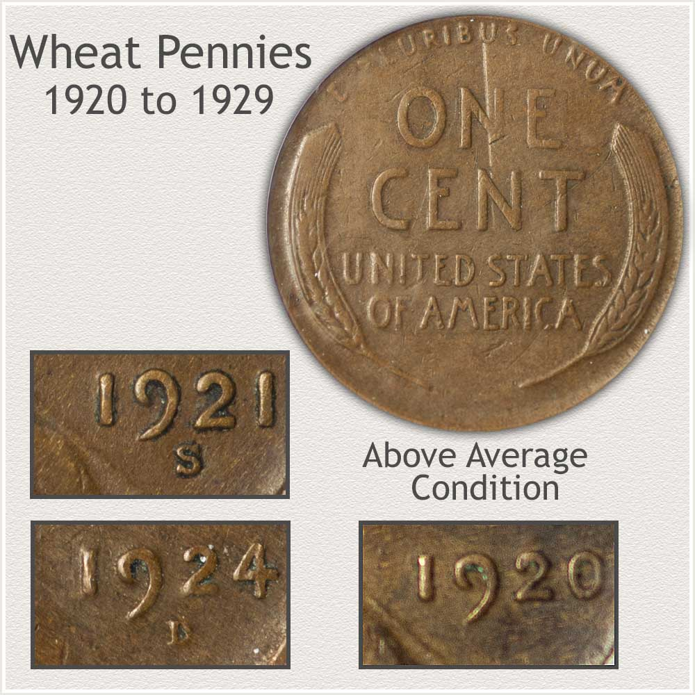 Important Features of the 1920's Decade Wheat Pennies