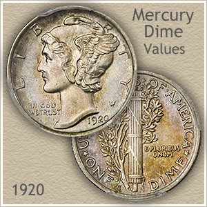 Uncirculated 1920 Dime Value