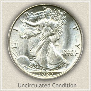 1920 Half Dollar Uncirculated Condition