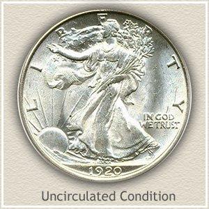 1920 Half Dollar Uncirculated Condition
