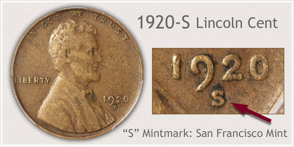1920-S Lincoln Penny