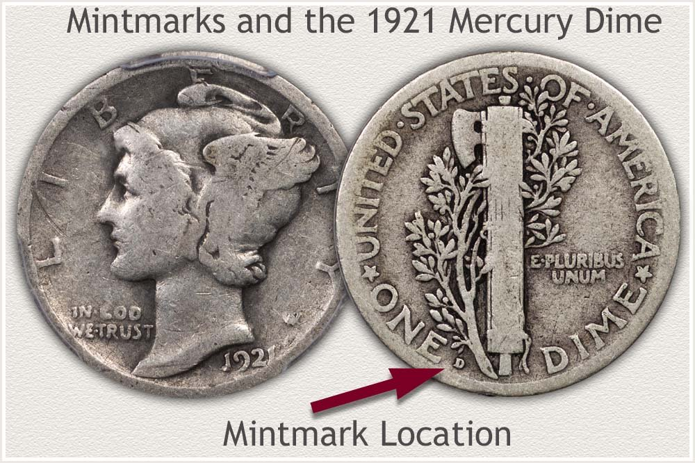 1921 Mercury Dime Obverse and Reverse