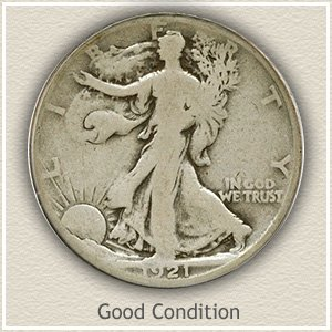 1921 Half Dollar Good Condition