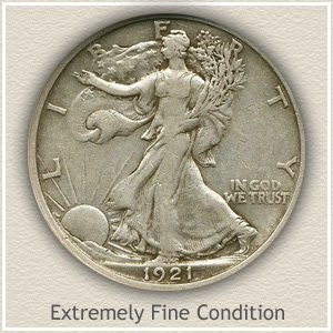 1921 Half Dollar Extremely Fine Condition