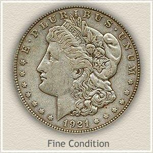 1921 Morgan Silver Dollar Fine Condition