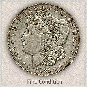 1921 Morgan Silver Dollar Fine Condition