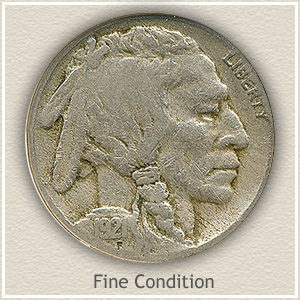 1921 Nickel Fine Condition