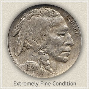1921 Nickel Extremely Find Condition