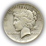 1921 Peace Silver Dollar Fine Condition