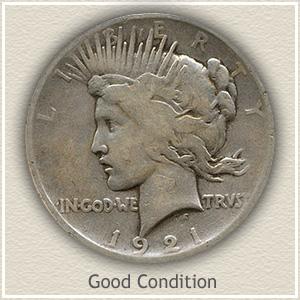 1921 Peace Silver Dollar Good Condition
