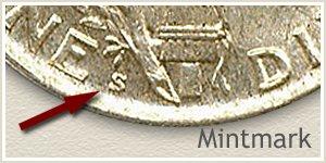 1923 Dime S Mintmark Location