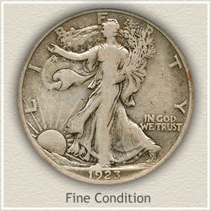 1923 Half Dollar Fine Condition