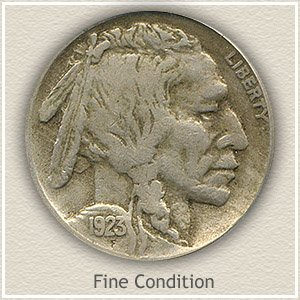 1923 Nickel Fine Condition