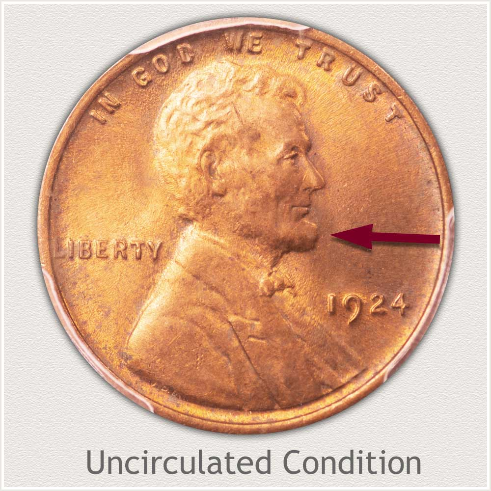 Uncirculated Grade 1924 Lincoln Penny
