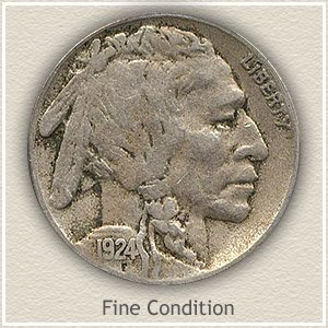1924 Nickel Fine Condition
