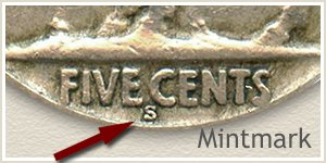 1924 Nickel S Mintmark Location