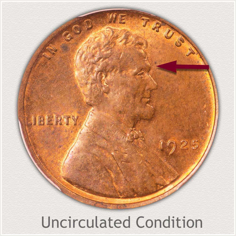 Uncirculated Grade 1925 Lincoln Penny