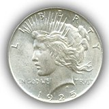 1925 Peace Silver Dollar Uncirculated Condition