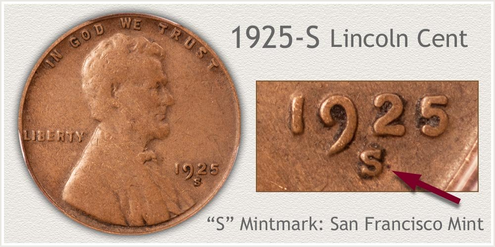 1925-S Lincoln Penny