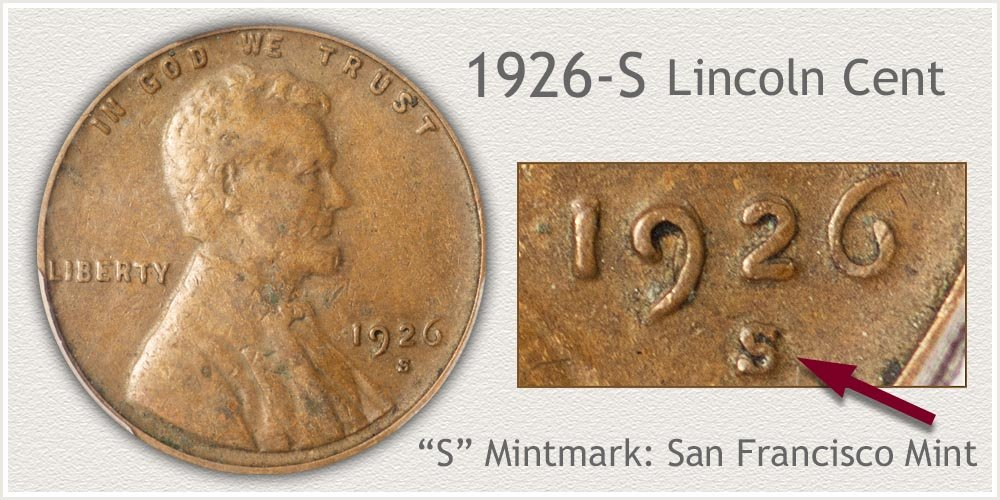 1926-S Lincoln Penny