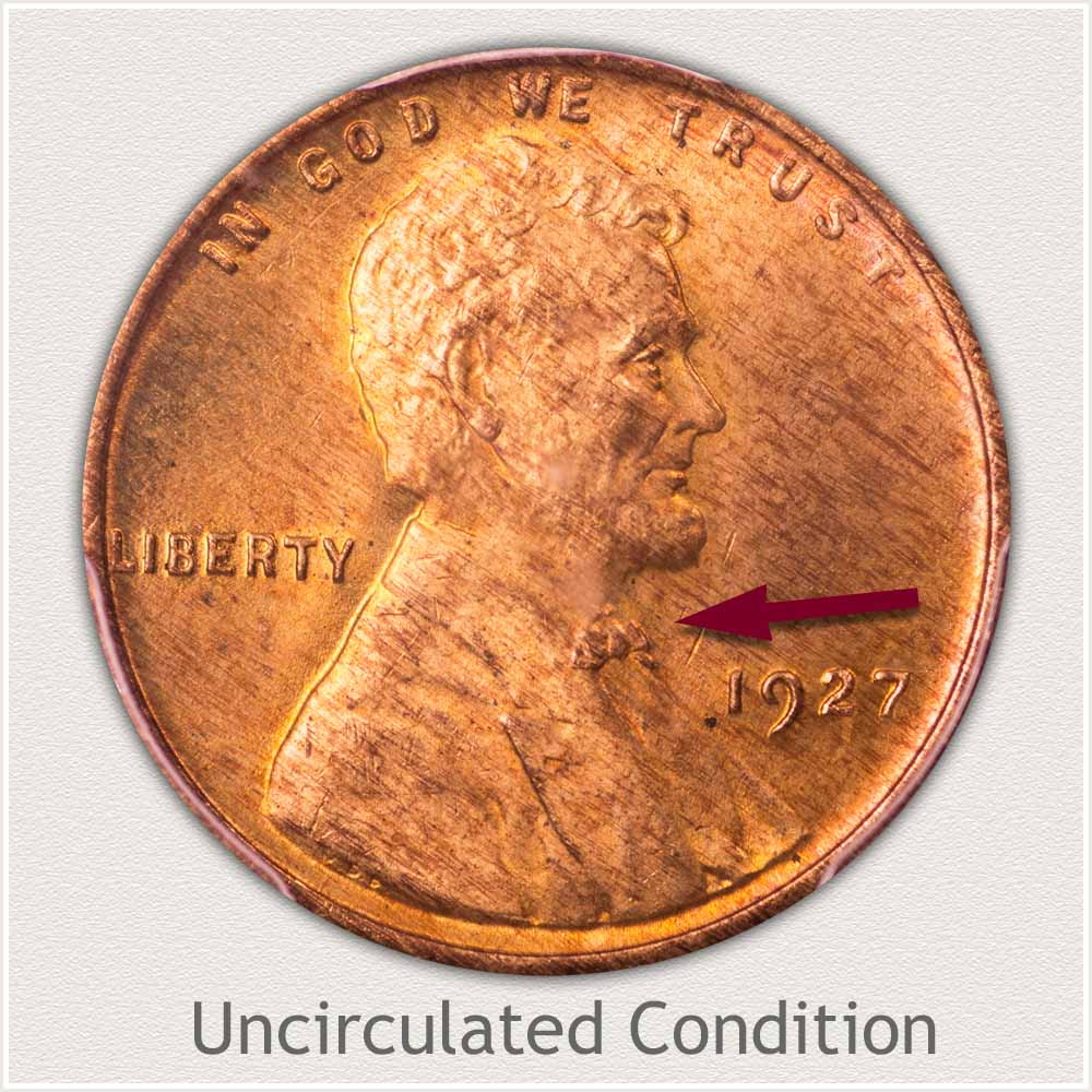 Uncirculated Grade 1927 Lincoln Penny