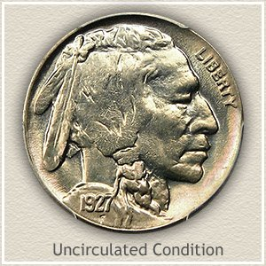 1927 Nickel Uncirculated Condition