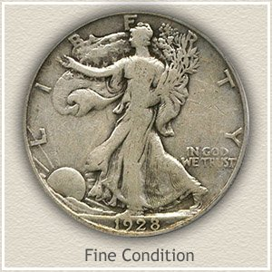 1928 Half Dollar Fine Condition