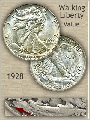 Uncirculated 1928 Half Dollar Value