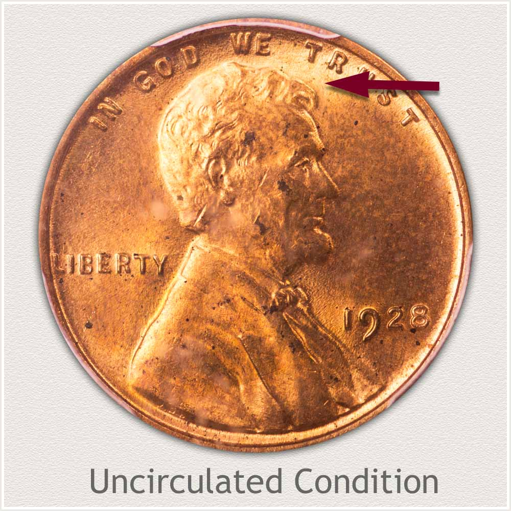 Uncirculated Grade 1928 Lincoln Penny
