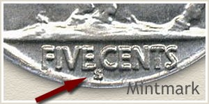 1928 Nickel S Mintmark Location
