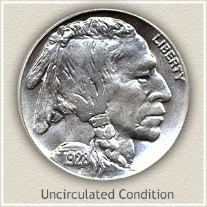 1928 Nickel Uncirculated Condition