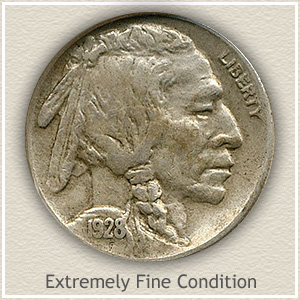 1928 Nickel Extremely Fine Condition
