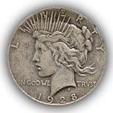 1928 Peace Silver Dollar Fine Condition