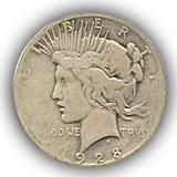 1928 Peace Silver Dollar Good Condition