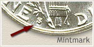 1929 Dime S Mintmark Location