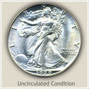 1929 Half Dollar Uncirculated Condition