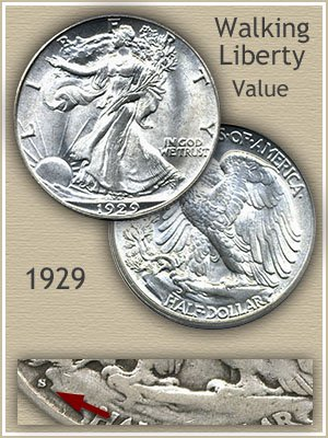 Uncirculated 1929 Half Dollar Value