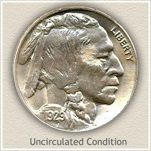 1929 Nickel Uncirculated Condition