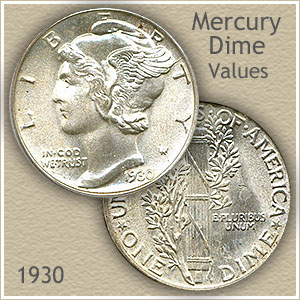 Uncirculated 1930 Dime Value