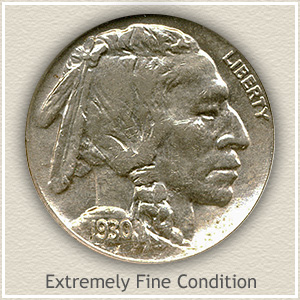 1930 Nickel Extremely Fine Condition