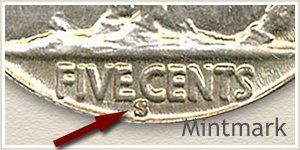1931 Nickel S Mintmark Location