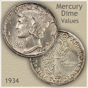Uncirculated 1934 Dime Value