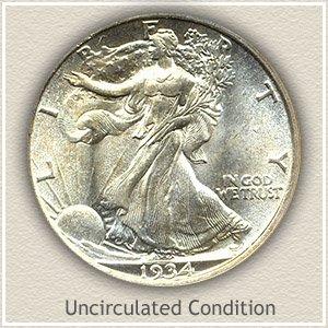 1934 Half Dollar Uncirculated Condition