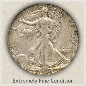 1934 Half Dollar Extremely Fine Condition