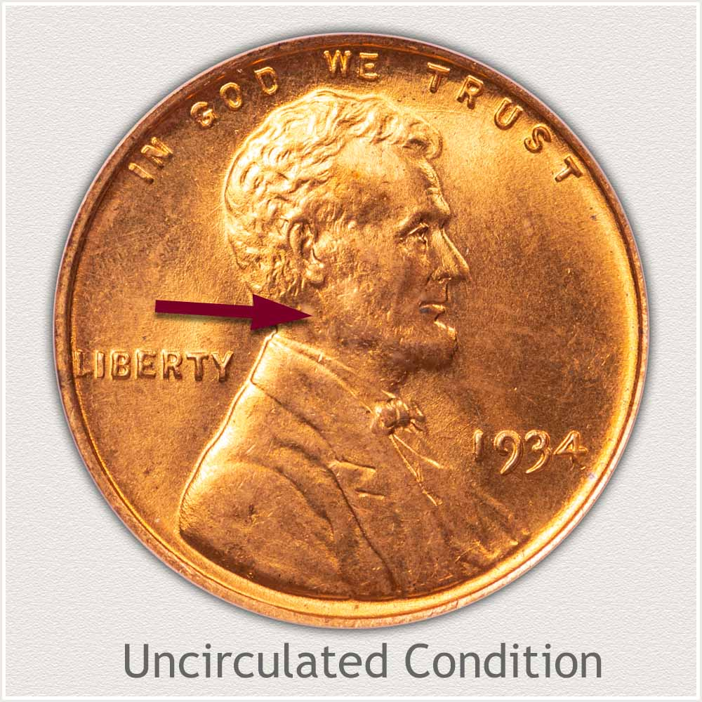Uncirculated Grade 1934 Lincoln Penny
