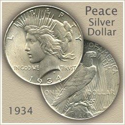 Uncirculated 1934 Peace Silver Dollar Value
