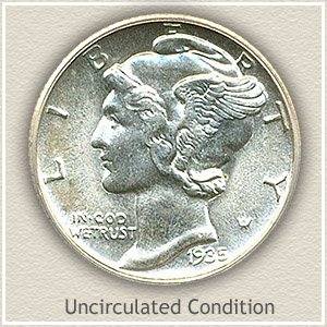 1935 Dime Uncirculated Condition