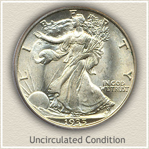 1935 Half Dollar Uncirculated Condition